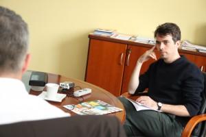 Jesse im Gespräch mir Michael Stürze, Leiter der Wohnungswirtschaft