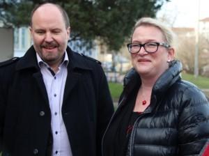 MWG-Vorstand Axel Herrmann und SPD-Landesvorsitzende Katrin Budde