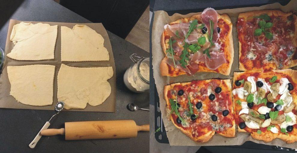Italienische Pizza selbst gemacht