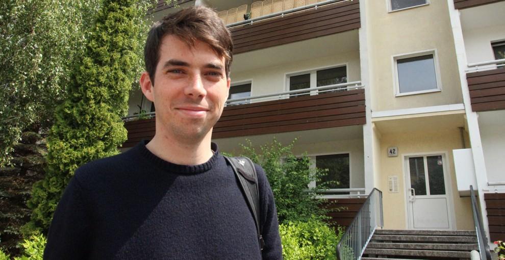 US-Student recherchiert für Masterarbeit in Olvenstedt